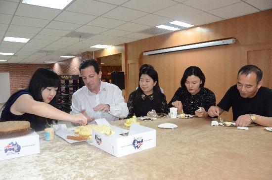 Cake Presentation to Distributors Customs and CIQ in Chendu China Sept 2014